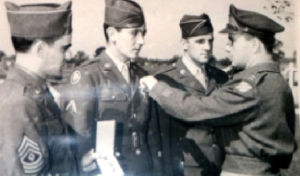My Grandfather, Ronald C. Sparks, getting the Purple Heart during WWII