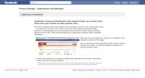 Facebook Personalization Settings
