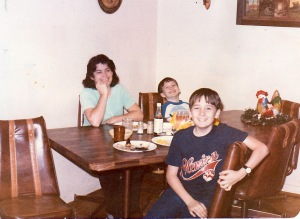Mom, my brother, and me around 1980.
