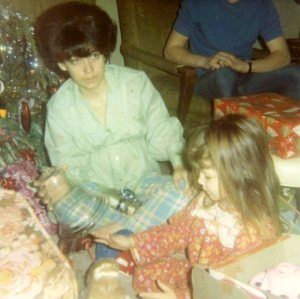 Mom and my sister, Rhonda, around 1968