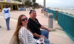 My lovely wife and John sitting at the beach
