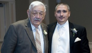 Grandpa and me at my wedding on October 11, 2009