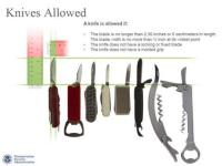 TSA Allows Knives on Planes Now