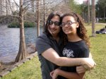 Ashlee and I at Lake Eola as I battled Cancer