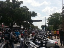 Enterence to Bikefest on Main Street