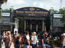 The main stage. It's pretty early, so crowds are sparse.
