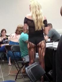 Just walking around the tattoo expo.