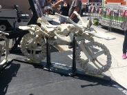 An all-bone motorcycle. Fred Flinstone would be drooling here.