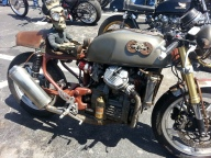 Another view of hte steampiunk bike.
