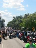 Riding down Main Street in Leesburg