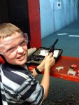 Taking my son to the gun range