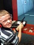 Taking my son to the gun range