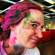 The Binary Princess was a mess after the Run or Dye 5k