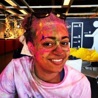 My daughter was a hot mess as well after the Run or Dye 5k