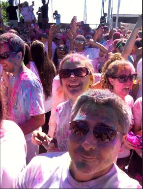After race selfie
