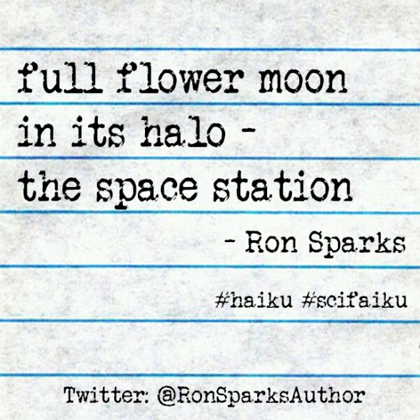 the space station (haiku by Ron Sparks)